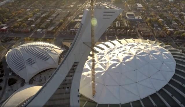 Les rénovations de la tour du Stade olympique en images (vidéo)