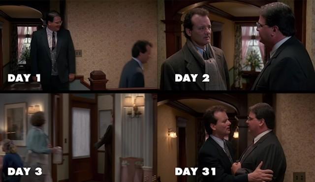 Regardez toutes les journées du «jour de la marmotte» en même temps.