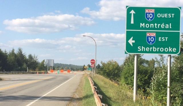 Magog: le viaduc de l'autoroute 10 fermé pour plusieurs semaines