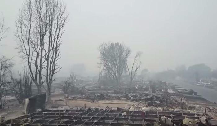 Scènes apocalyptiques au nord de la Californie (vidéo)