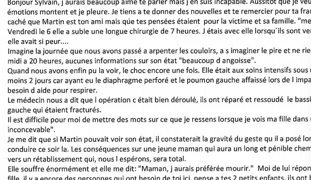 Affaire Martin Pouliot : témoignage touchant de la mère de la victime