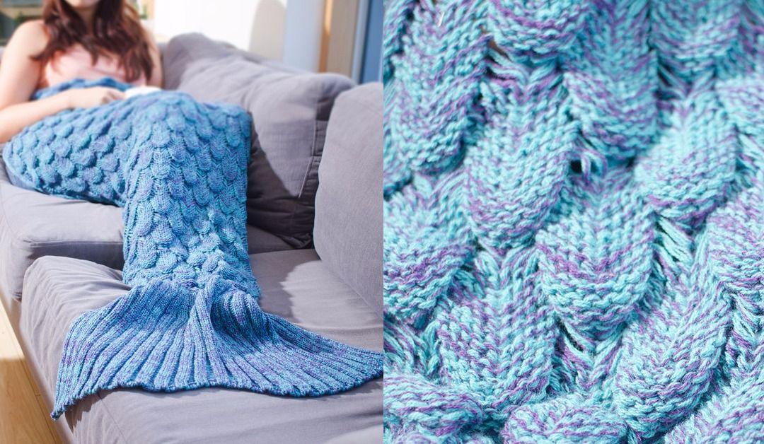 Vu sur les internets: cette queue de sirène en tricot