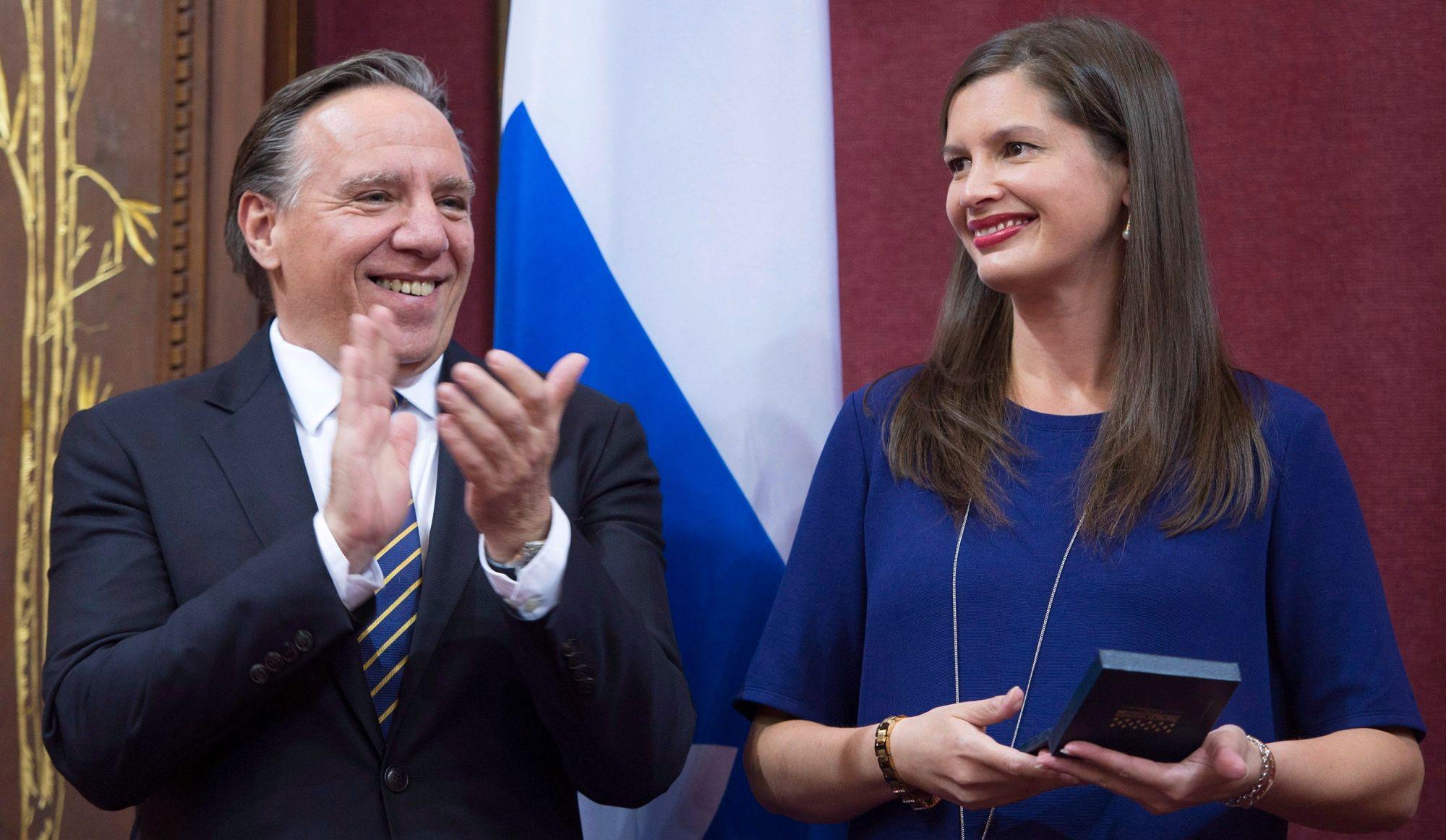 Geneviève Guilbault fait son entrée officielle à l'Assemblée nationale