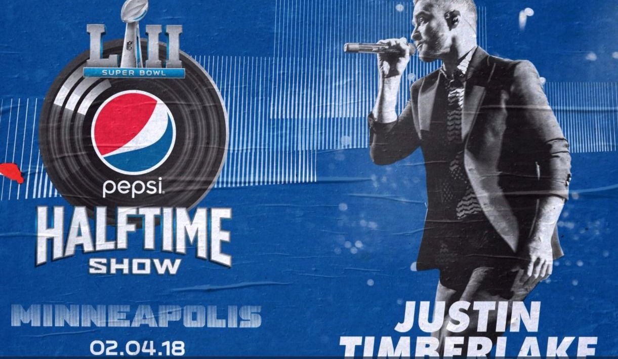 Justin Timberlake à la mi-temps du Super Bowl LII — Officiel