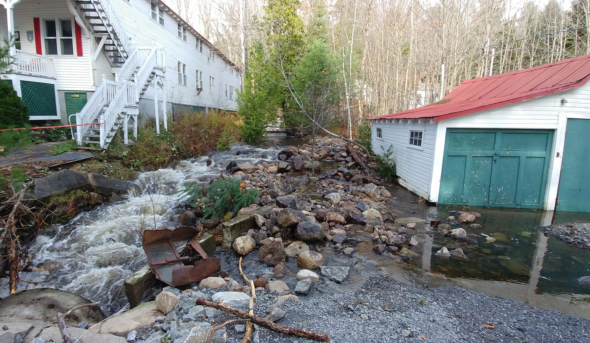 Inondationsau Camp Bruchési de Saint-Hippolyte