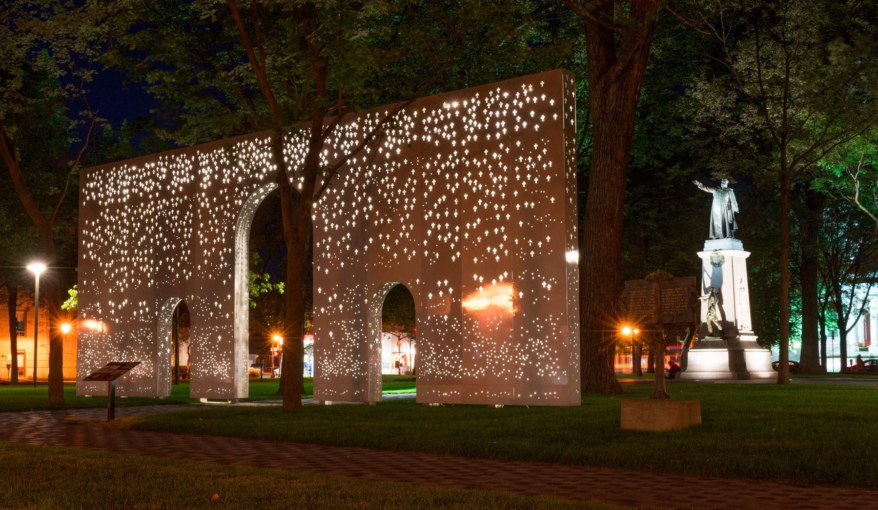 Un prix pour l'illumination de la Place du Curé-Labelle à Saint-Jérôme