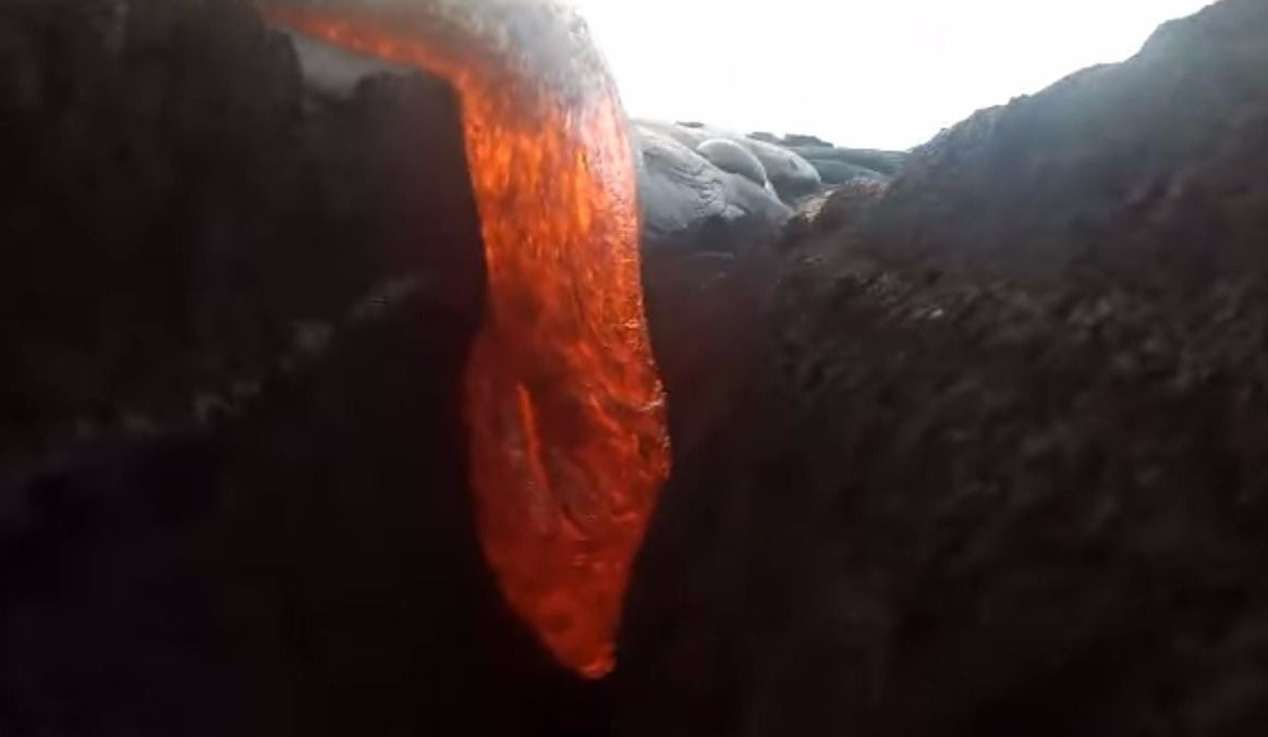 GoPro gets Swallowed by Lava and SURVIVES