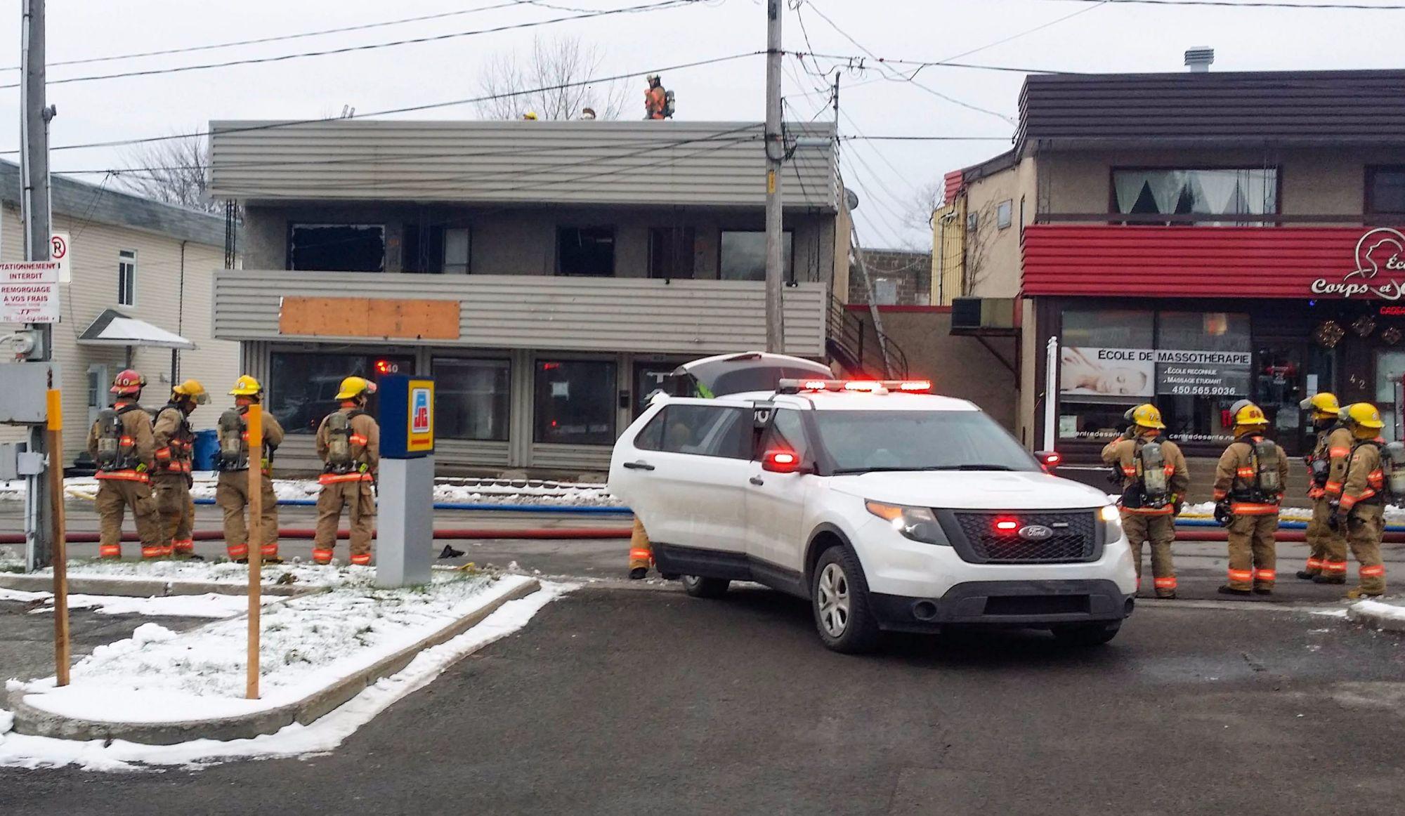 Saint-Jérôme : incendie suspect sur Saint-Georges