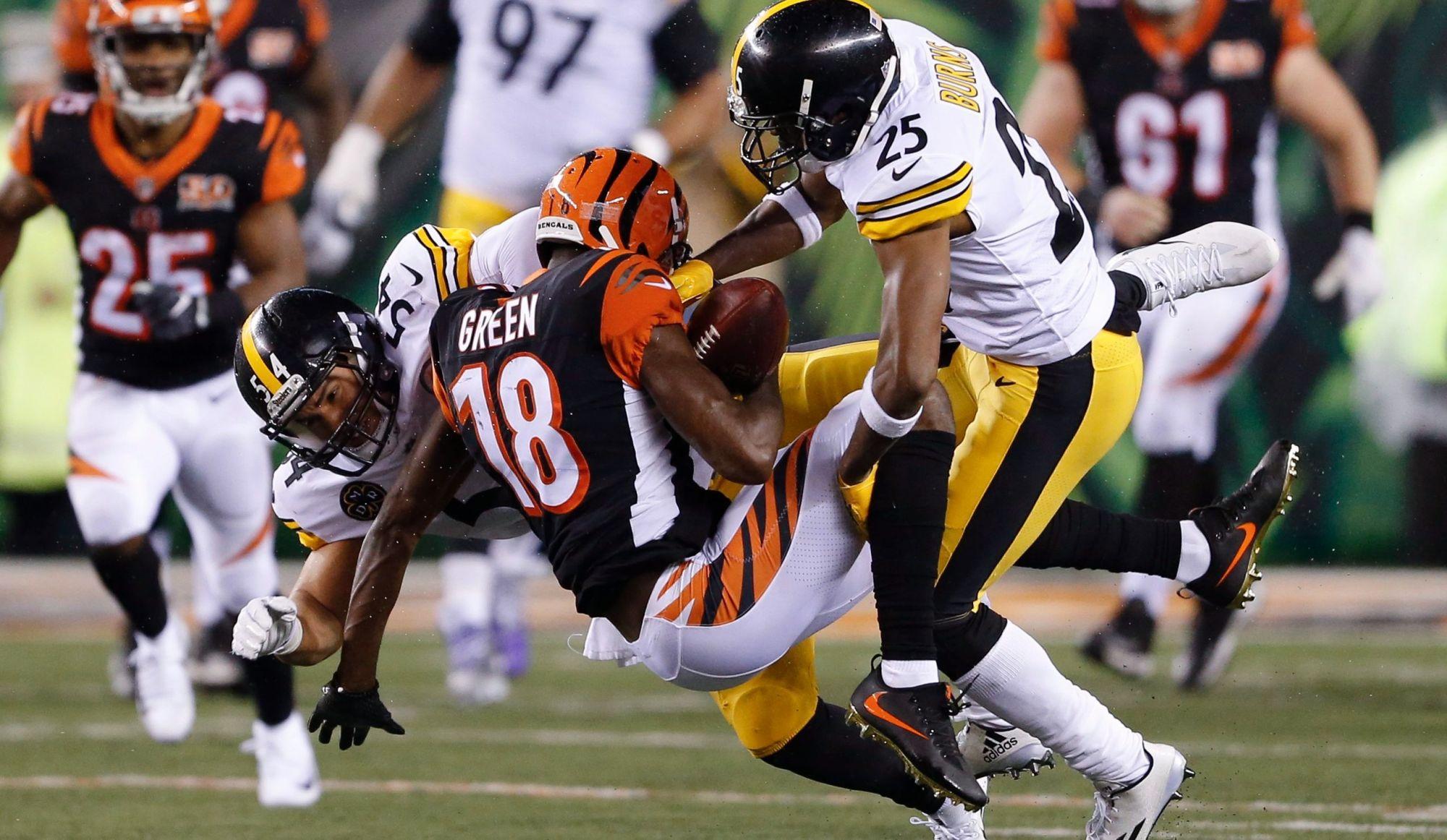 Autre épisode de la (trop?) grande rivalité Steelers-Bengals (vidéo)