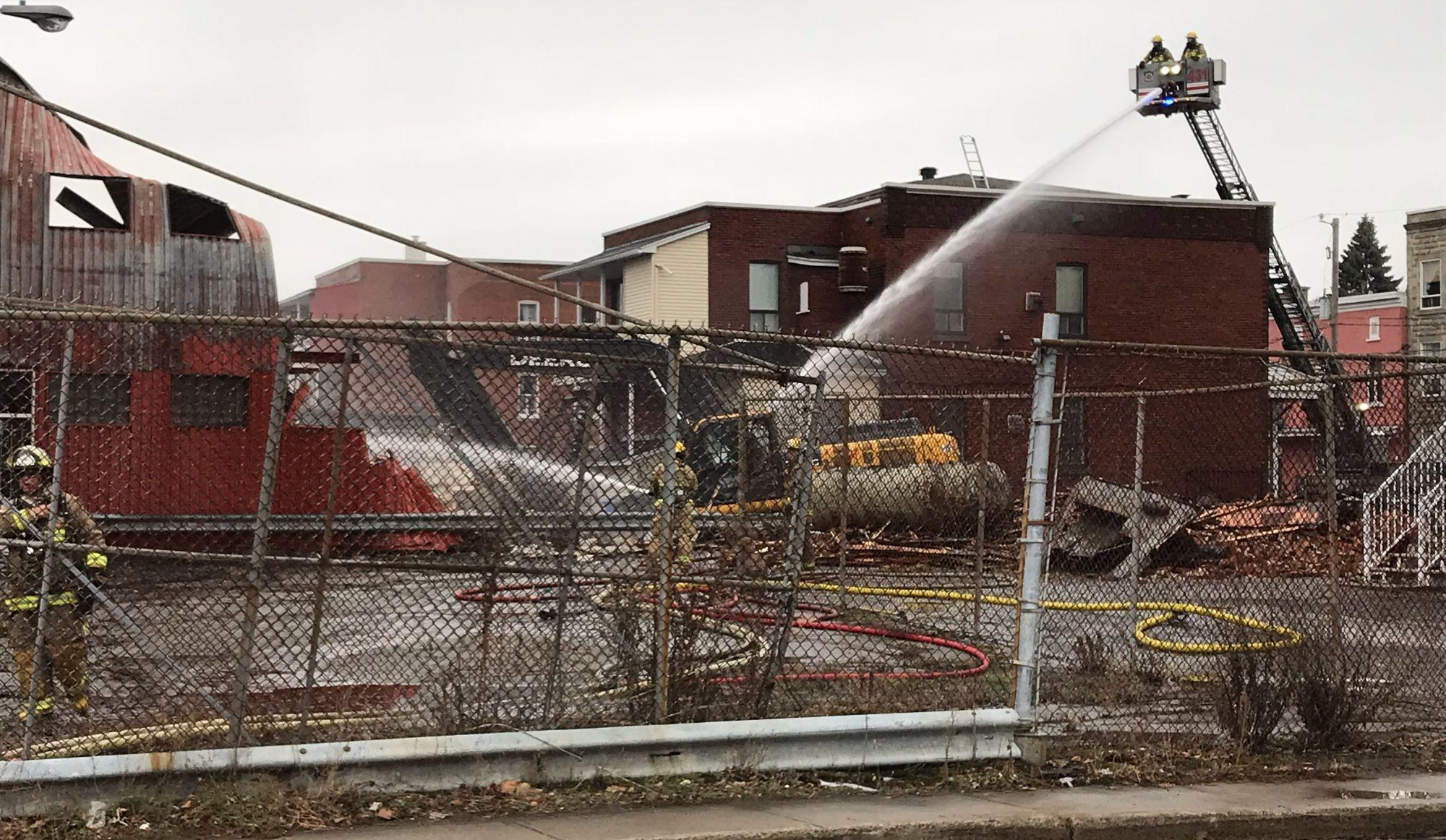 Incendie à l'ancienne crèmerie de Trois-Rivières: le propriétaire de Groupe Auxilium viendra constater les dégâts
