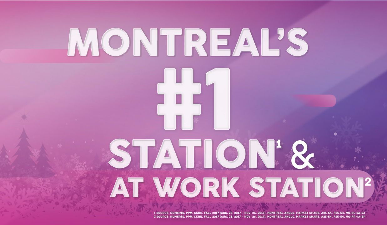 THE BEAT 92.5 IS MONTREAL'S #1 RADIO STATION!