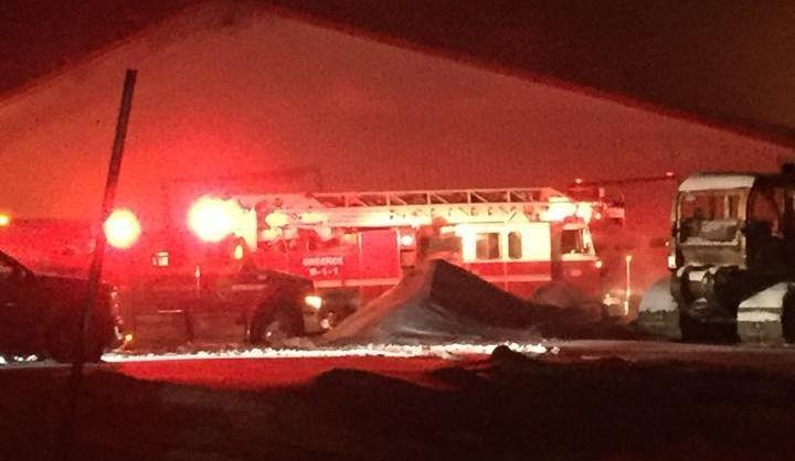 Incendie d'une ferme laitière à St-Herménégilde