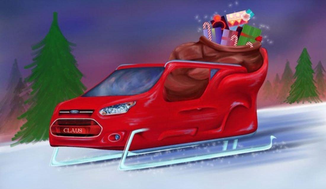Le traîneau du Père Noël revisité