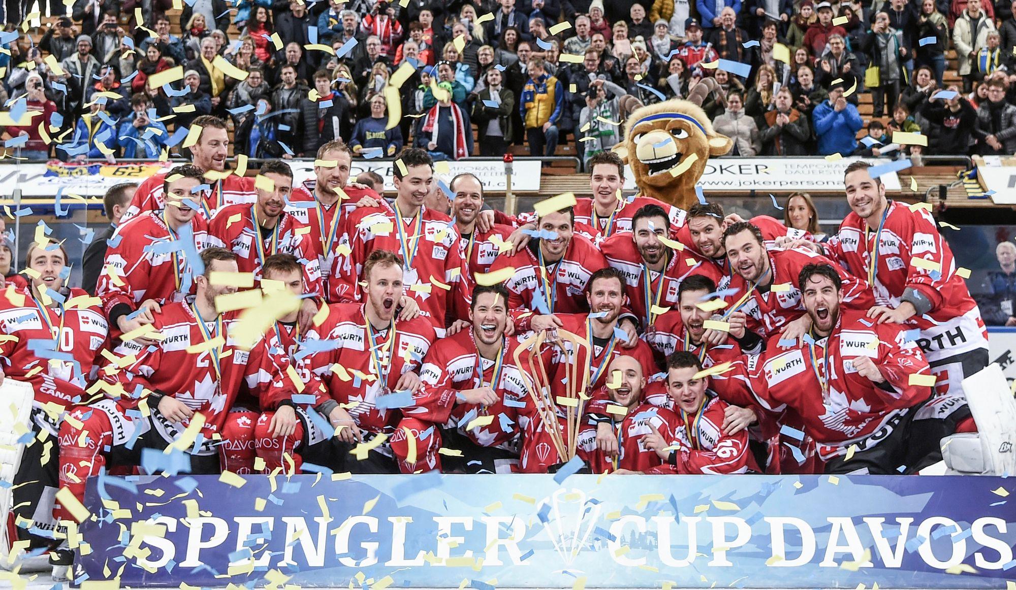 Le Canada remporte à nouveau la coupe Spengler (vidéo)