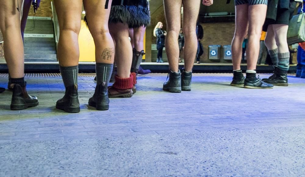La «No Pants Subway ride 2018» avait lieu hier
