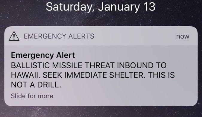 Panique à Hawaï:fausse alerte sur l'arrivée d'un missile