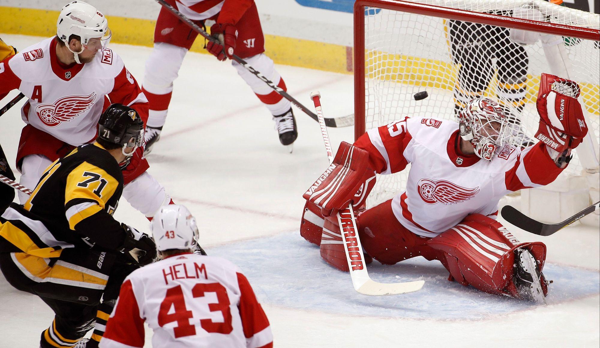 Deux buts de Malkin dans la victoire des Penguins face aux Red Wings (vidéos)