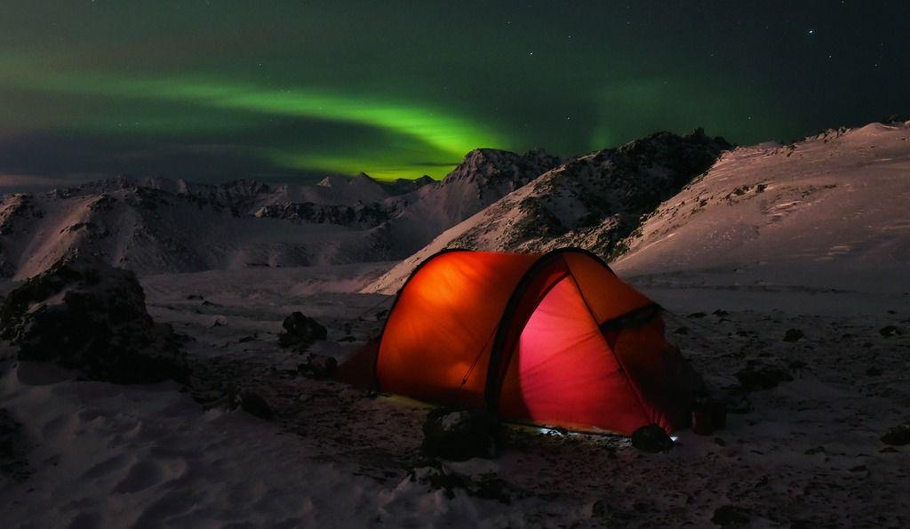 5 abris pour le camping d'hiver
