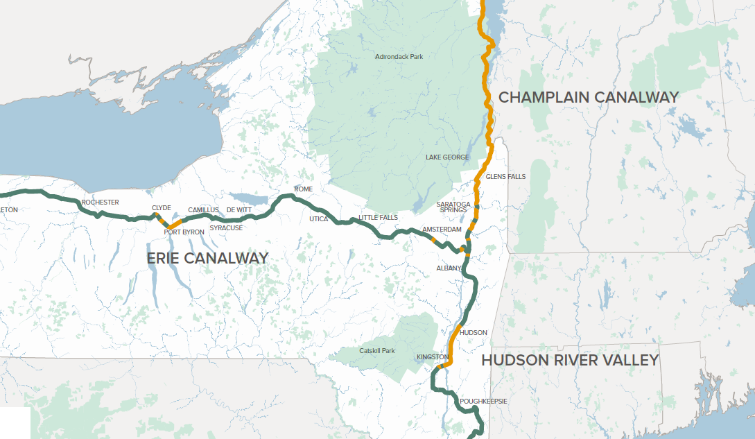 A 1,200 km Bike Path will Link Canada to NYC