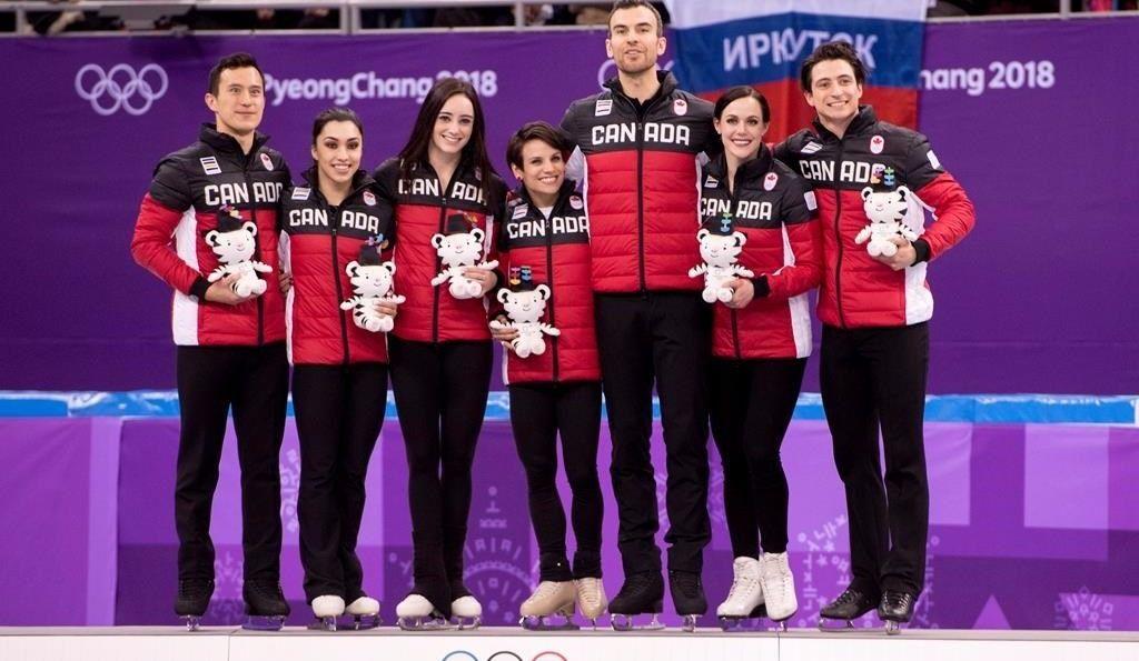 Patinage artistique par équipe: une première médaille d'or pour le Canada