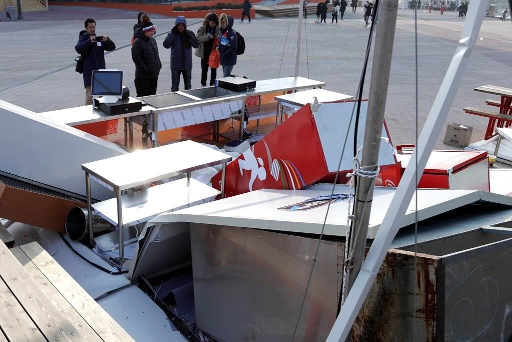Les vents violents forcent la fermeture du Parc olympique à Gangneung