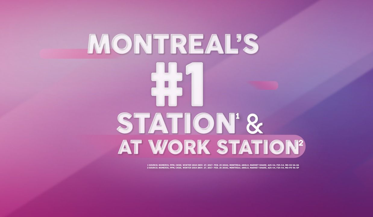THE BEAT 92.5 IS MONTREAL'S #1 RADIO STATION! [1]