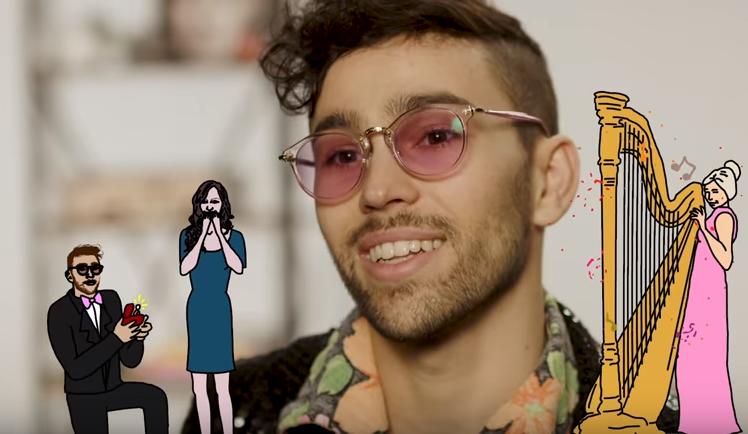 Un chanteur utilise sa chanson pour une demande en mariage