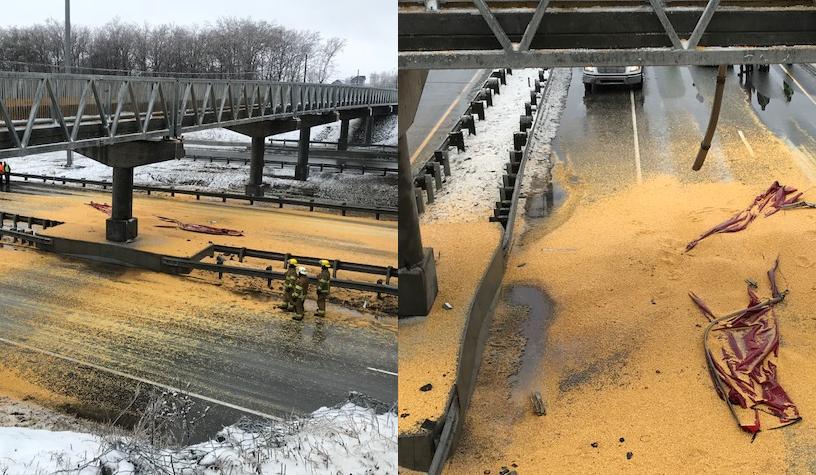 L'autoroute 40 en direction est rouvre à Repentigny après un spectaculaire accident