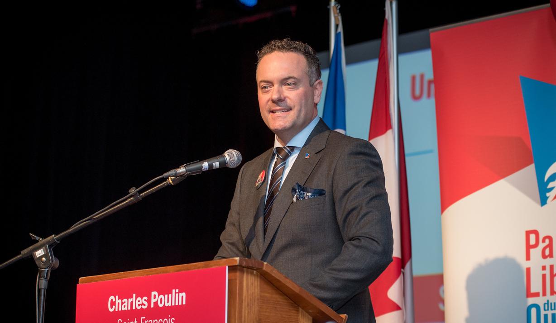Charles Poulin est le candidat du PLQ dans Saint-François